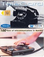 NAMIBIA(chip) - Telephone, 100 Years Of Telecommunications In Namibia, Used - Telefoni