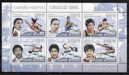 GUINEE BISSAU Feuillet  N° 2734/39  * * ( Cote 20e ) Jo 2008 Natation Plongeon  Champions Chinois - Kunst- Und Turmspringen