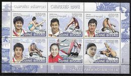 GUINEE BISSAU Feuillet  N° 2740/45  * * ( Cote 20e ) Jo 2008 Natation Plongeon  Planche A Voile Champions Chinois - High Diving