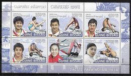 GUINEE BISSAU Feuillet  N° 2740/45  * * ( Cote 20e ) Jo 2008 Natation Plongeon  Planche A Voile Champions Chinois - Kunst- Und Turmspringen