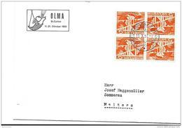 """205 - 8 - Enveloppe Avec Oblit Spéciale """"OLMA St Gallen 1951"""" - Marcophilie"""