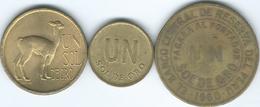 Peru - 1 Sol De Oro - 1960 (KM222) 1973 (KM248) & 1975 (KM266.1) - Peru