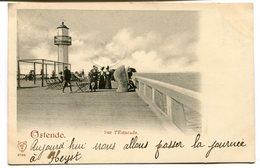 CPA - Carte Postale - Belgique - Ostende - Sur L'Estacade - 1899 (B9121) - Oostende