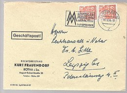 1954 Rechtsbeistand Kurt Frauendorf Rötha August-Bebel-strasse 20 Technische Messe (313) - [6] République Démocratique