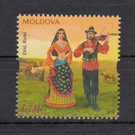 Moldova Moldawien 2018 MNH ** Mi. Nr. 1045 Traditional Clothes Ethnic Molodoves - Moldawien (Moldau)