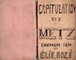 Très Rare Exceptionnel Carnet De Notes Et Photo D'un Prisonnier De Guerre Bataille De Metz Et Gravelote  1870 - 1914-18