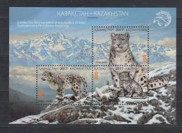Kz 1020-22 Bl.92  Snow Leopard 2017 - Kasachstan
