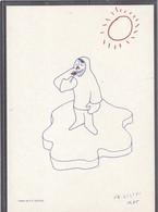 14 - Dessin De Paul Emile VICTOR Sur Carte Postale Neuve - - Terres Australes Et Antarctiques Françaises (TAAF)
