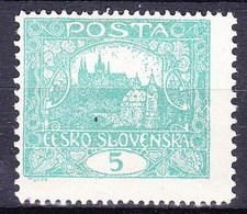 Tchécoslovaquie 1918 Mi 24 F (Yv 29), (MH)* - Tchécoslovaquie