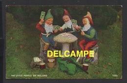 DD / IRLANDE / LE PETIT PEUPLE D' IRLANDE , NAINS JOUANT AUX CARTES / THE LITTLE PEOPLE OF IRELAND / DWARFS PLAYING CARD - Irlanda
