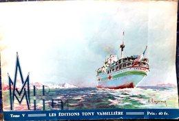 MARINE MILITAIRE  PLAQUETTE ALBUM MER MONOGRAPHIES DE BATEAUX DE GUERRE BELLES GRAVURES DE LASEROUX 1945 - Boats