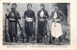 Syrie-Liban - Mont-Liban - Le Fils De La Montagne Aime Son épée , Son Fusil , Sa Massue - Syria