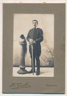 Photographie Sur Support Cartonné - Soldat - H.Guillon, Saumur - Guerra, Militares