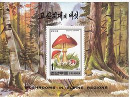 1995 North Korea Stamps Mushroom S/S - Korea (Noord)