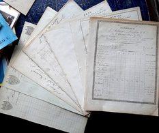 SAINT CHAMOND 7 FACTURES DEVIS PRIX COURANTS DE FABRIQUE DE LACETS RUBANS 1880 - Artigianato