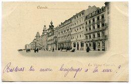 CPA - Carte Postale - Belgique - Ostende - La Digue Centrale - 1899 (B9129) - Oostende