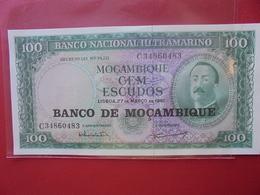 MOZAMBIQUE 100 ESCUDOS 1961 PEU CIRCULER/NEUF - Mozambique