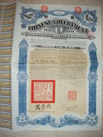 ! OBLIGATION CHINE, CHINA Staatsanleihe, Chinese Government 20 Pounds Bond, 1912, 5 % Gold Loan, Emprunt - Asien