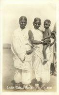 India, Native Tamil Girls (1930s) RPPC Postcard - India