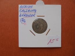 SALZBURG-AUTRICHE 2 KREUZER 1712 (A.8) - Austria