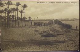 BENGASI La Messa Solenne Ai Caduti A Bengasi - Viaggiata Nel 1912 Formato Piccolo - Otras Guerras