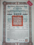 ! OBLIGATION CHINE, CHINA 8% Staatsanleihe, Chinese Government 5 Pound Bond, 1925, Emprunt - Asia
