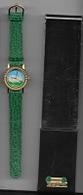 Montre  ARTHUS  BERTRAND  Bracelet  Vert  Avec  Animal  LAPIN  Etam  Sur  Le  Cadran - Joyas & Relojería