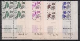 France - 1976 - Préo N°Yv. 146 à 149 - Série Complète En Blocs De 4 Coin Daté - Neuf Luxe ** / MNH / Postfrisch - Prematasellados