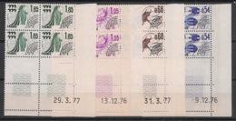 France - 1976 - Préo N°Yv. 146 à 149 - Série Complète En Blocs De 4 Coin Daté - Neuf Luxe ** / MNH / Postfrisch - Coins Datés