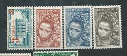 MARTINIQUE  N°  222+226/28  **  TB  2 - Martinique (1886-1947)
