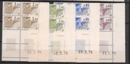 France - 1979 - Préo N°Yv. 162 à 165 - Série Complète En Blocs De 4 Coin Daté - Neuf Luxe ** / MNH / Postfrisch - Coins Datés