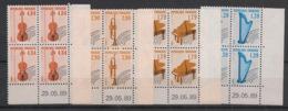 France - 1989 - Préo N°Yv. 202 à 205 - Série Complète En Blocs De 4 Coin Daté - Neuf Luxe ** / MNH / Postfrisch - Prematasellados