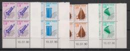 France - 1990 - Préo N°Yv. 206 à 209 - Série Complète En Blocs De 4 Coin Daté - Neuf Luxe ** / MNH / Postfrisch - Prematasellados