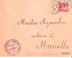 Nord :- BERLAIMONT Dateur A4 - Marcophilie (Lettres)