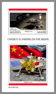 MALDIVES 2019 MNH Chang'e 4 Landing On The Moon Space Raumfahrt Espace S/S - OFFICIAL ISSUE - DH1920 - Space