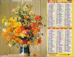 °° Calendrier Almanach La Poste 1994 Lavigne - Dépt 37 - Bouquets De Fleurs - Calendriers