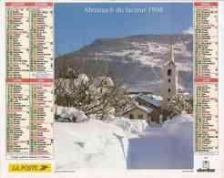 °° Calendrier Almanach La Poste 1998 Oberthur - Dépt 37 - Paysages De Montagne - Calendriers