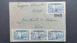 1946 Lettre Recommandé De Witonia  Pour La France , Registered Cover From Witonia 1946 To France , Polska - Polen