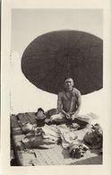 India, Fakir Faqir, Holy Man, Meditation, Parasol (1930s) RPPC Postcard - India