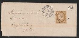 YT 1 Sur Lettre Du 25 Janvier 1854 - 1849-1850 Cérès