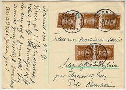 """Nr. 385 MEF (5) Auslands Postkarte """"Tegernsee - Polen"""" 1927 - Deutschland"""