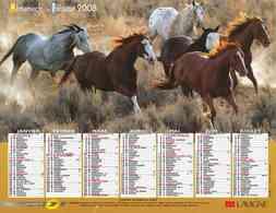 °° Calendrier Almanach La Poste 2008 Lavigne - Dépt 37 - Chevaux - Kalenders