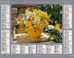 °° Calendrier Almanach La Poste 2009 Oberthur - Dépt 37 - Bouquets De Fleurs - Kalenders