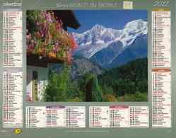 °° Calendrier Almanach La Poste 2011 Oberthur - Dépt 37 - Paysages De Montagne - Kalenders