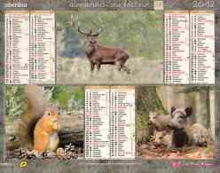 °° Calendrier Almanach La Poste 2012 Oberthur - Dépt 37 - Animaux De Nos Forêts - Kalenders