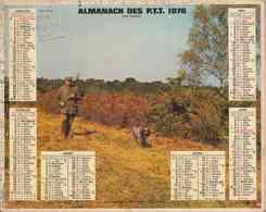 °° Calendrier Almanach PTT 1976 Oberthur - Dépt 37 - Scènes De Chasse - Calendriers