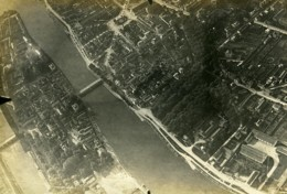 France WWI Melun Vue Aérienne Ancienne Photo 1918 - Guerra, Militari