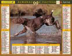 °° Calendrier Almanach La Poste 1999 Lavigne - Dépt 72 - Chiens - Calendriers