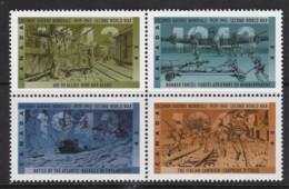 Canada 1993 World War II 50th Anniversary Set As Block Of 4 MNH - 1952-.... Reign Of Elizabeth II