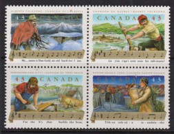Canada 1993 Folk Songs Set As Block Of 4 MNH - 1952-.... Reign Of Elizabeth II